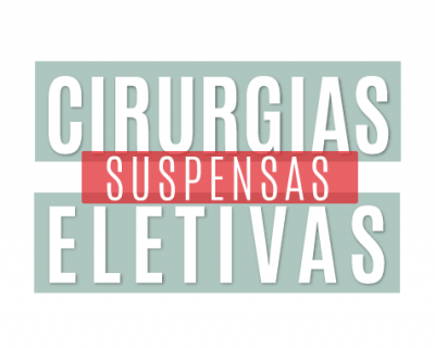 Cirurgias eletivas suspensas (Data da publicacao)